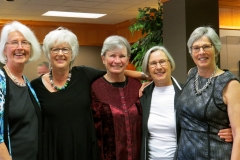 Mae Stolte, Judith Slimmon, Peggy Voth, Shirley Halliday, Marlene Brouwer